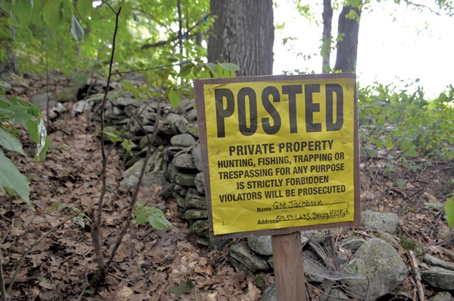 A sign on posted land - KATIE JICKLING