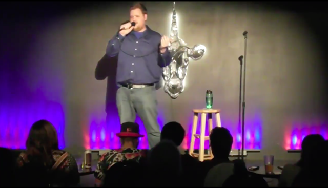 Dustin Tanner at Vermont Comedy Club in 2015 - SCREENSHOT
