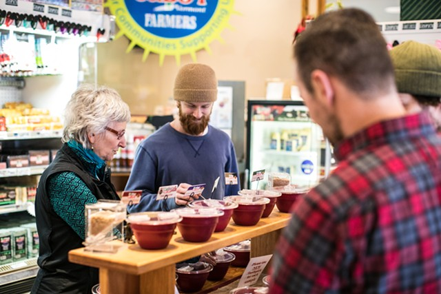 Cheese sampling at Cabot Creamery Visitor Center, Cabot - COURTESY OF CABOT CREAMERY