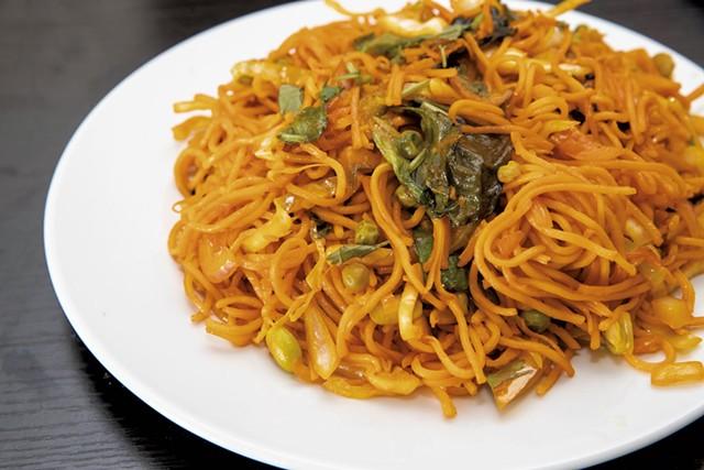 Vegetable Hakka noodles from Everest Indian-Nepali Restaurant - PHOTOS: JAMES BUCK