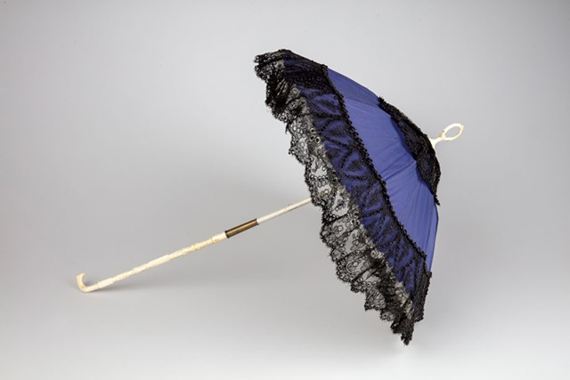 Carriage parasol of silk, beads, wood and ivory - COURTESY OF THE FLEMING MUSEUM OF ART