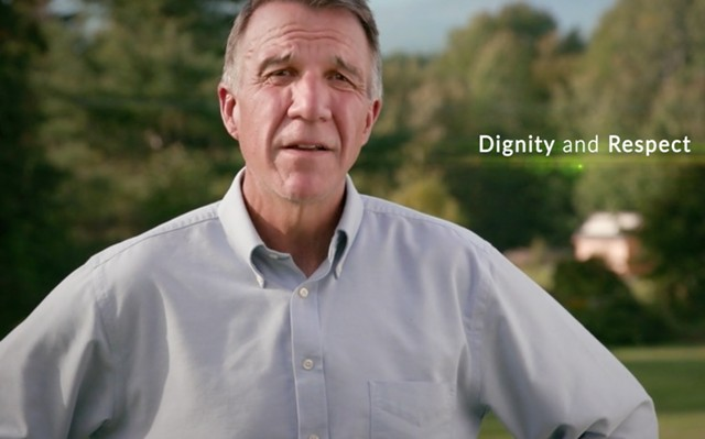 Gov. Phil Scott's first television advertisement of his 2018 reelection campaign - SCREENSHOT