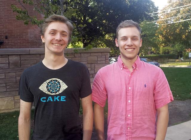 Amos Bryne (left) and Luke Charland