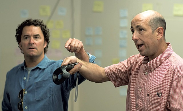 Dr. Bryan Huber (left) and Steven Berlin - COURTESY ADAM WALKER