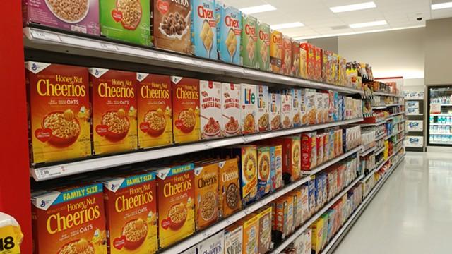 A bountiful selection of sweetened breakfast cereals - JORDAN ADAMS