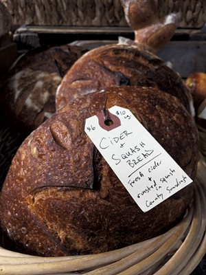 A variety of Slowfire Bakery's fresh-baked breads - MATTHEW ROY