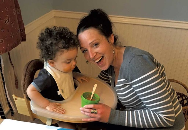 Madelyn Linsenmeir with her son, Ayden - COURTESY OF MAURA O'NEILL