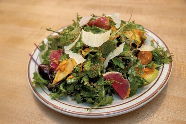 Fall greens salad at Pizzeria Ida - JAMES BUCK