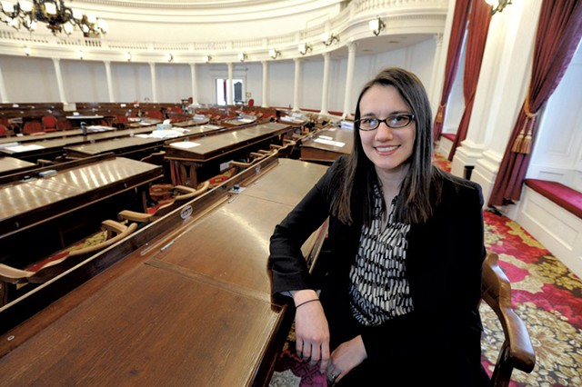 House Majority Leader Jill Krowinski (D-Burlington) - FILE: JEB WALLACE-BRODEUR