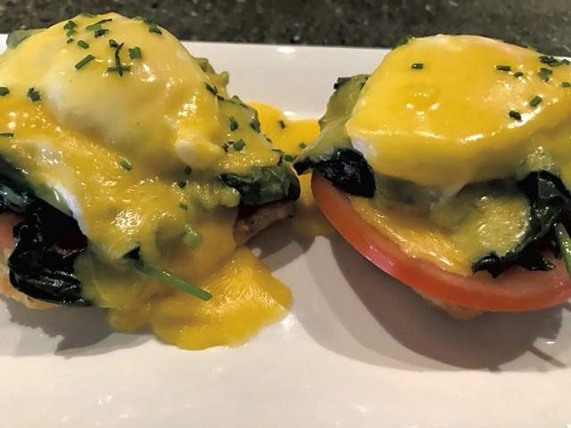 Eggs Benedict at Butler's Pantry - SALLY POLLAK
