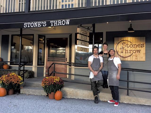 From left: Silas Pollitt, Allie Duhamel and Tyler Stratton of Stone's Throw - COURTESY OF STONE'S THROW