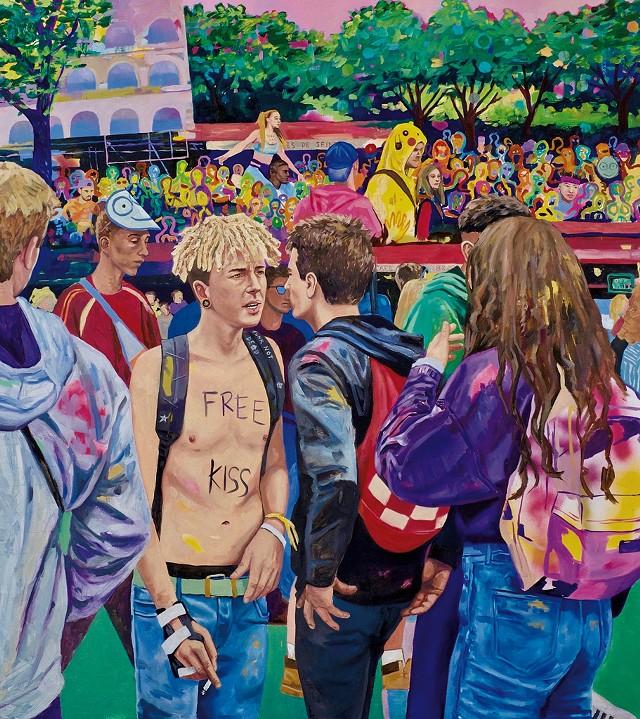 """Techno Parade"" - IMAGE COURTESY OF 77 GALLERY"