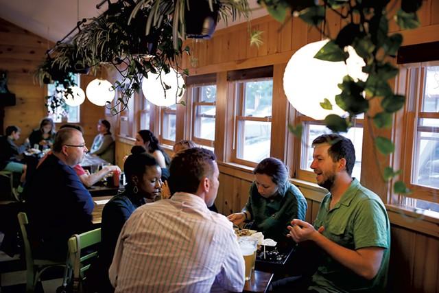Diners at Samurai Soul Food - FILE: SARAH PRIESTAP