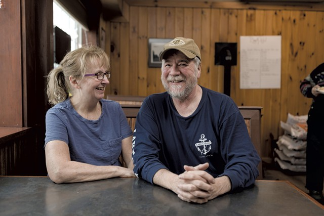 Sue and Bill Mayo, co-owners of the Franklin General Store - STINA BOOTH