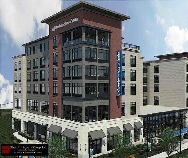 The hotel rendering - COURTESY OF BMA ARCHITECTURAL GROUP
