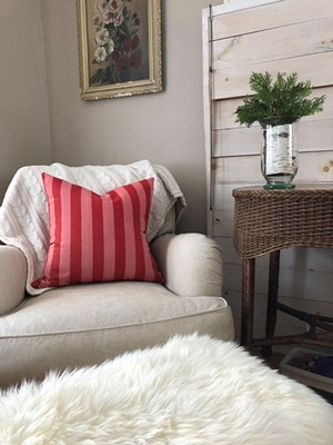 Seasonal pillows add a layer of warmth during winter months. - COURTESY OF BRIANNE TAYLOR