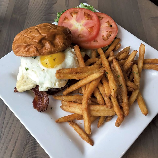 Huevos rancheros burger at Duke's Public House - COURTESY OF DUKE'S PUBLIC HOUSE