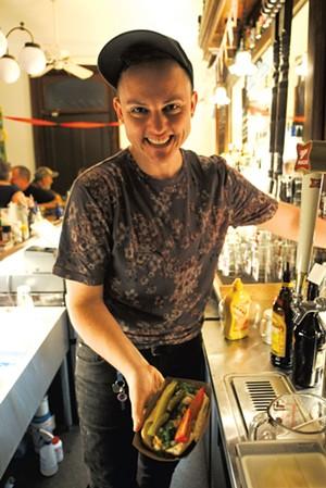 Owen Daniel-McCarter at Babes Bar in Bethel - FILE : DYLAN KELLEY