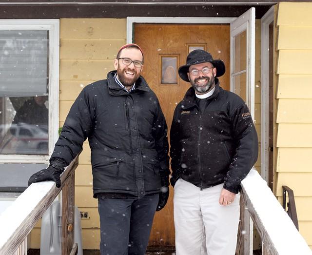 Rabbi David Fainsilber (left) and Rev. Rick Swanson at the Yellow House - FILE: JESSICA OJALA