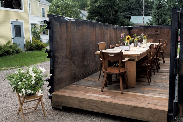 The dumpster setting of Waterbury's Salvage Supperclub - FILE: MICHAEL VERILLO