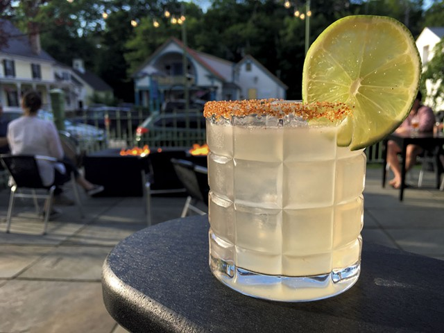 Palomaniac cocktail on the patio at Main + Mountain Bar & Motel - MELISSA PASANEN