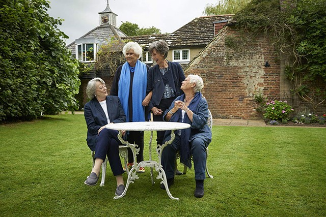 Maggie Smith, Joan Plowright, Eileen Atkins and Judi Dench in Tea With the Dames