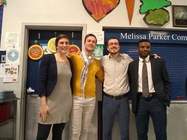 Left to right: Perri Freeman, Kienan Christianson, Jack Hanson and Mohamed Jafar - KATIE JICKLING