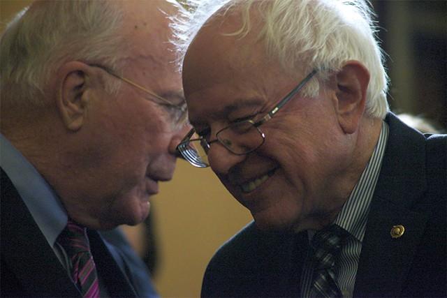 Sen. Patrick Leahy and Sen. Bernie Sanders - MATTHEW THORSEN