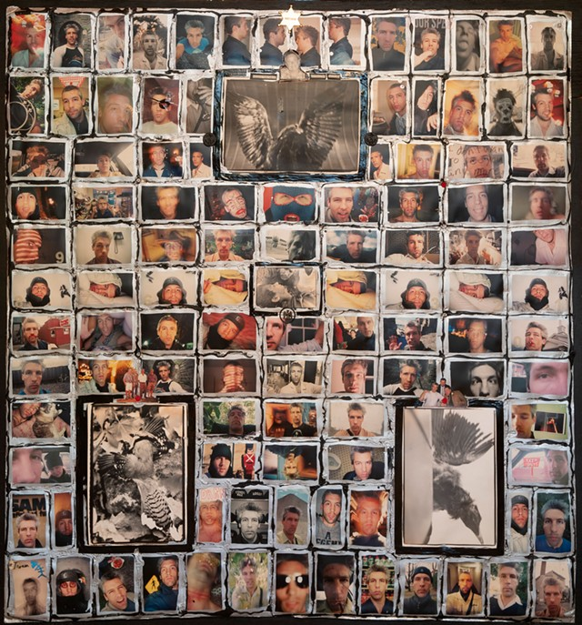 A quilt of Matthew Thorsen self-portraits - MATTHEW THORSEN