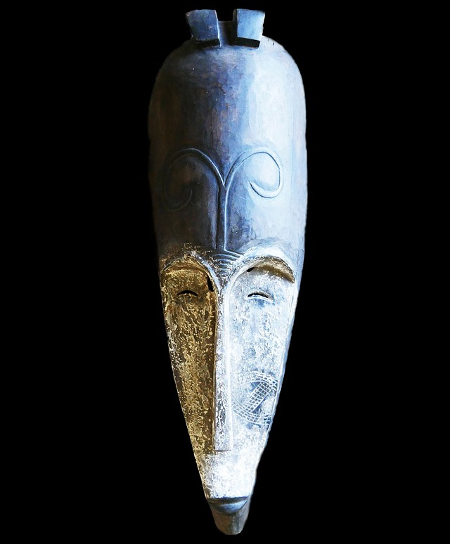 Fang tribe wooden mask, Southern Cameroon, circa 1800s - COURTESY OF JOHN Y. FLANAGAN