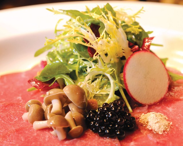 North East Family Farm Carpaccio at The Common Man - JEB WALLACE-BRODEUR