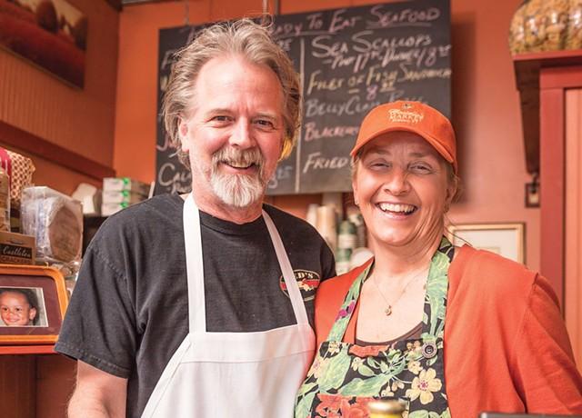 John Hamilton and Carolyn Costello at Costello's Market. - OLIVER PARINI