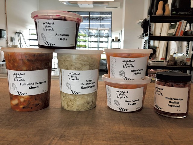 Products from Pitchfork Farm and Pickle - COURTESY OF PITCHFORK FARM AND PICKLE