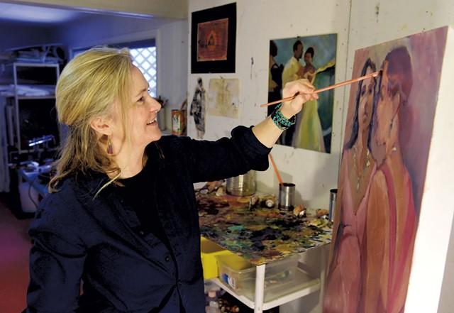 Hope Sharp in her studio - JEB WALLACE-BRODEUR