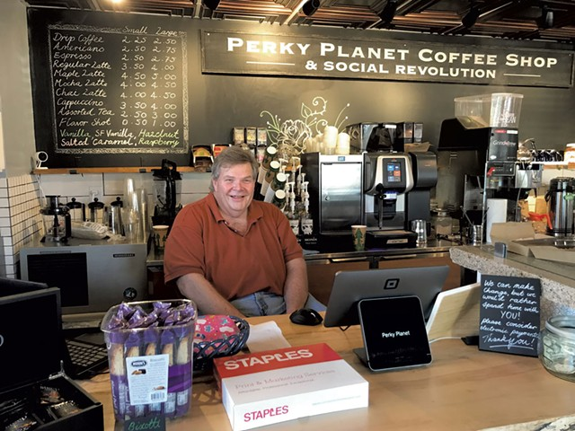 Richard Vaughn of Perky Planet Coffee - COURTESY OF PERKY PLANET COFFEE