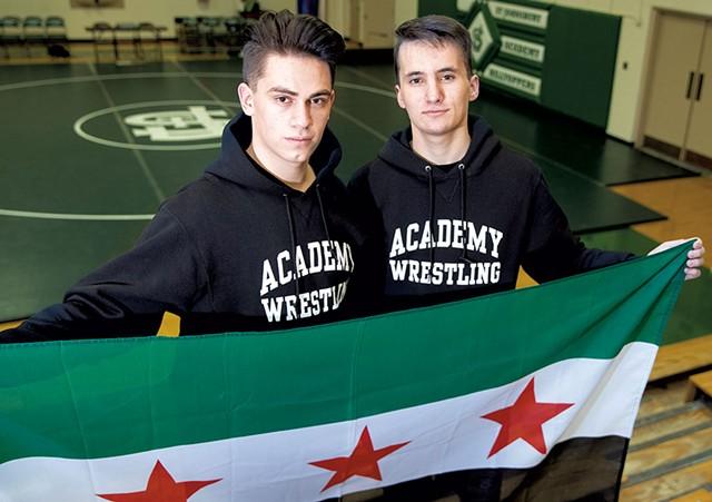 Ayman Alsalloumi (left) and Majd Alabas - JAMES BUCK