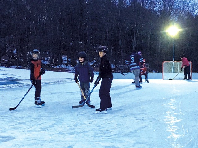 Backyard Hockey Rink - COURTESY OF PATTY KELLY