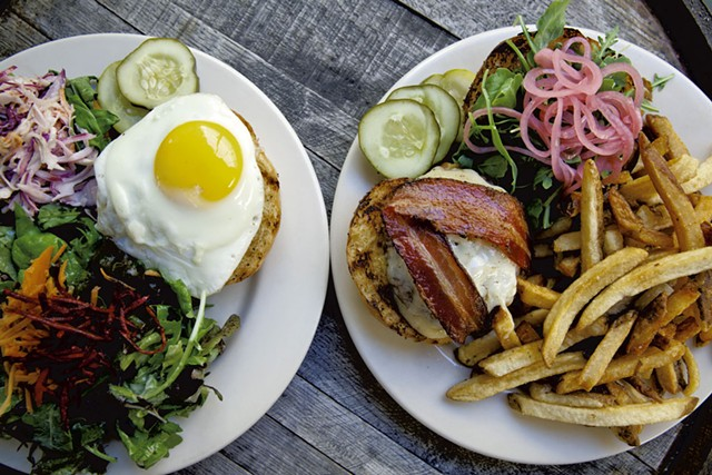Burgers at the Farmhouse Tap & Grill - COURTESY OF THE FARMHOUSE TAP & GRILL