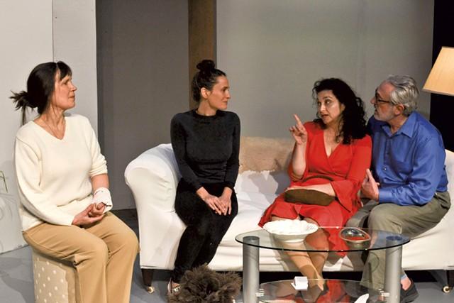 From left: Rebecca Bailey, Elena Greenlee, Marcela Williamson and Gene Kraus - COURTESY OF LINDA TREACH