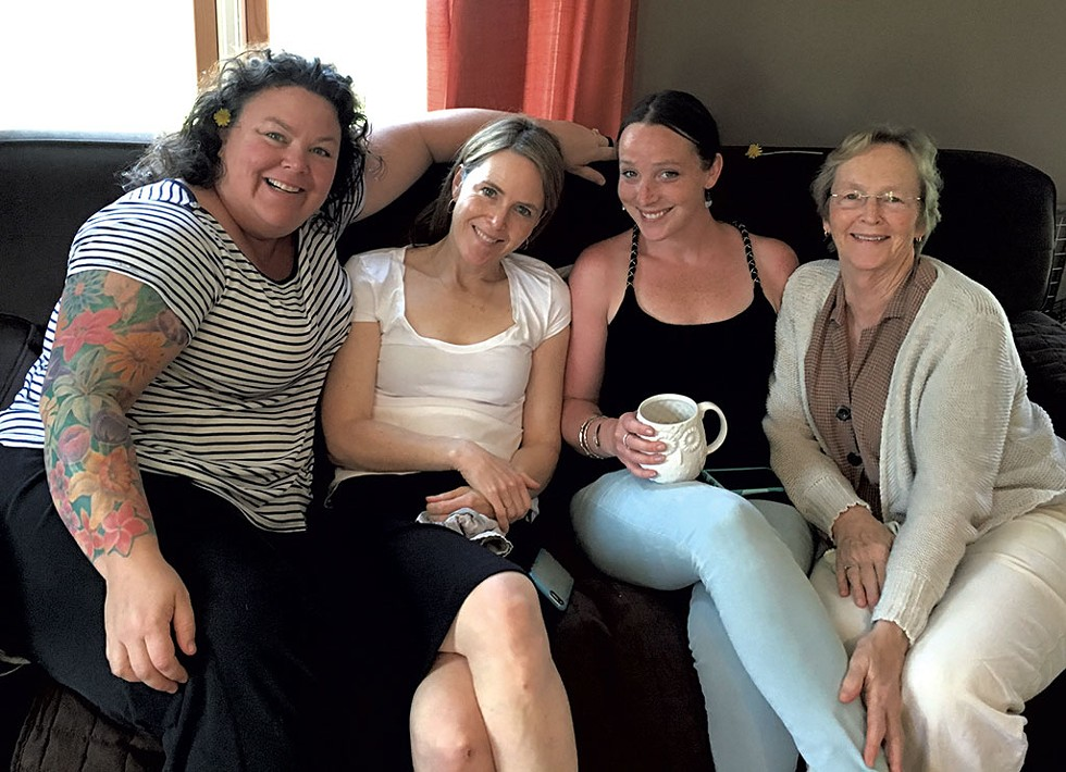 From left: Maura O'Neill, Kate O'Neill, Madelyn Linsenmeir and Maureen Linsenmeir in 2016 - COURTESY OF KATE O'NEILL