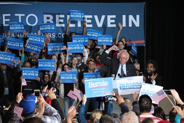 Sen. Bernie Sanders campaigns in Iowa in January 2016. - FILE: PAUL HEINTZ