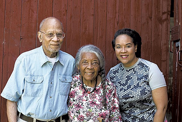 Lydia Clemmons Jr. (right) with her parents, Jackson and Lydia Clemmons - CALEB KENNA