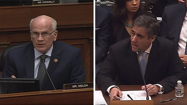 U.S. Rep. Peter Welch and Michael Cohen