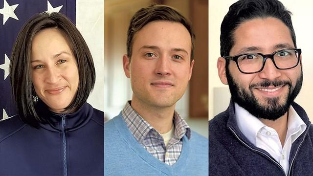 From left: Ericka Bundy Redic, Kienan Christianson, Franklin Paulino