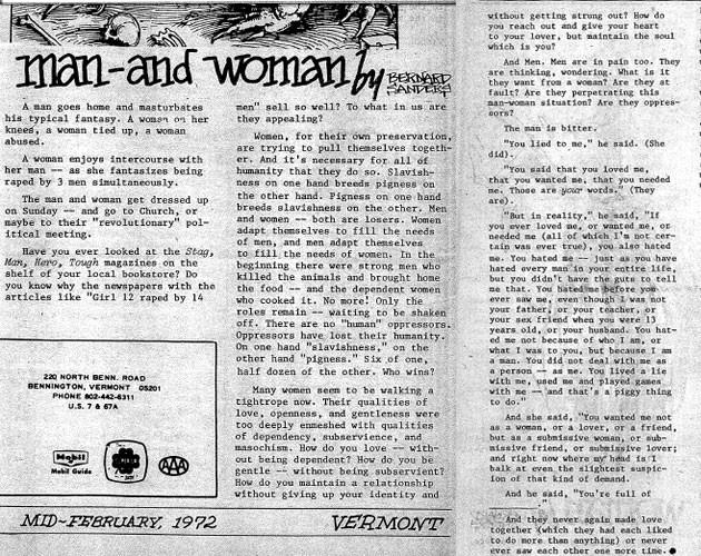 Bernie Sanders' 1972 essay in the Vermont Freeman - VERMONT FREEMAN VIA MOTHER JONES