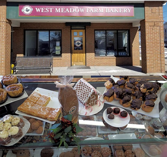 Pastry case at West Meadow Farm Bakery - COURTESY OF WEST MEADOW FARM BAKERY