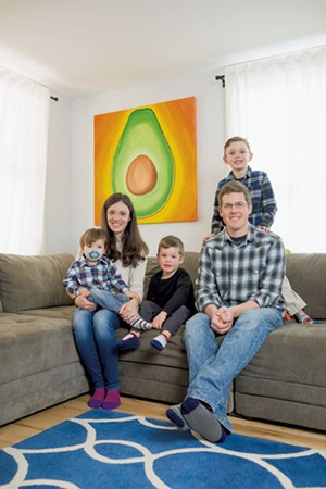 Cayenne and Graham MacHarg with their sons (from left) Ethan, Ryan and Calvin - OLIVER PARINI