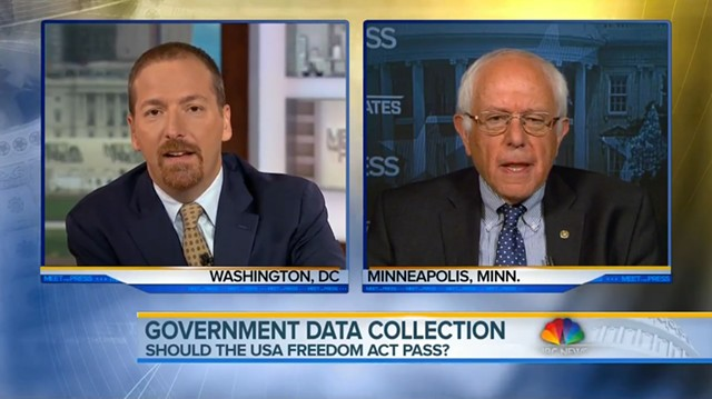 "Chuck Todd and Sen. Bernie Sanders on ""Meet the Press"" - SCREENSHOT"