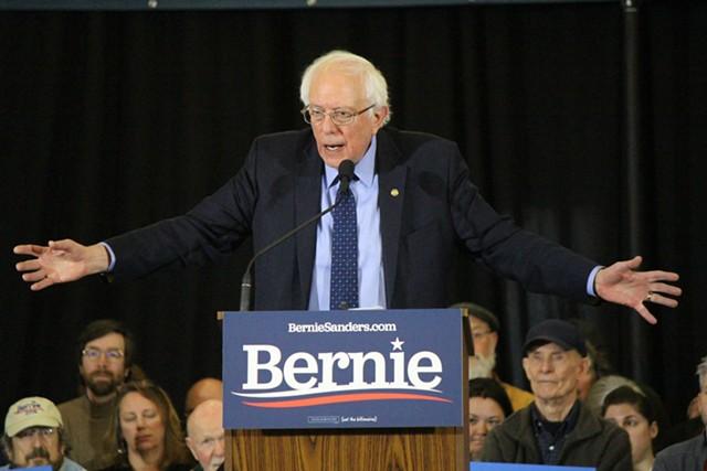 Sen. Bernie Sanders campaigns in New Hampshire. - FILE: PAUL HEINTZ