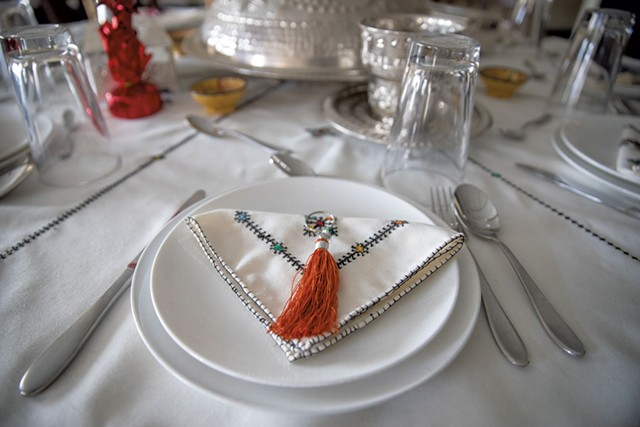 Place setting at Little Morocco Café - JAMES BUCK